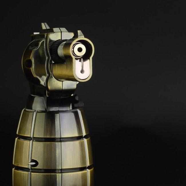 Refillable Grenade Gun Shaped Jet Flame Lighter