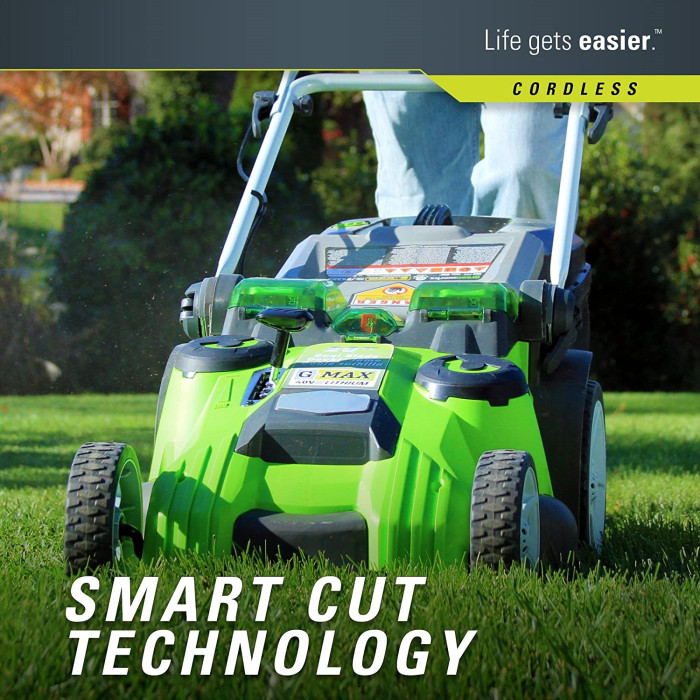 40V 20 Inch Cordless Twin Force Lawn Mower, 4Ah & 2Ah Batteries with Charger Included, 25302
