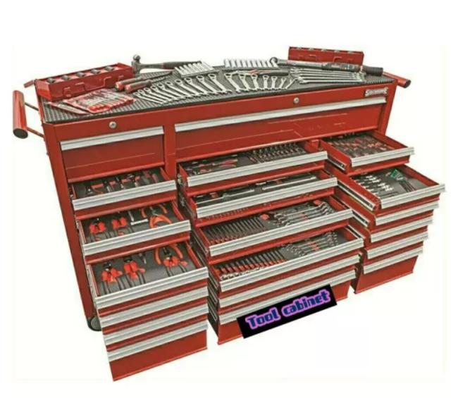 523 Piece Wide Top Tool Kit BONUS SCMT50272 12 Drawer Triple Bank Tool Chest