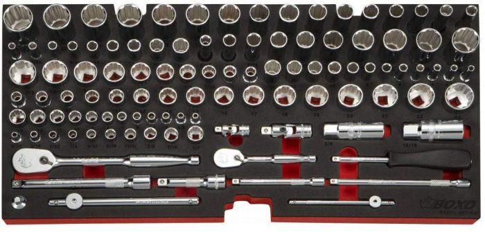 USA Heavy Duty 185pcs Metric & SAE Tool Set with 3 Drawers Carry Box