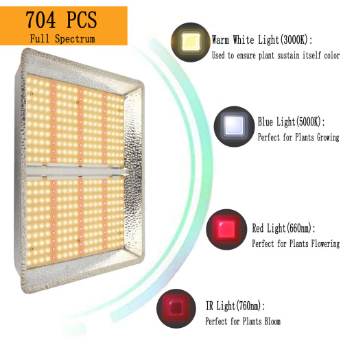 2000W Led Grow Light for Indoor Plants, Sunlike Spectrum with IR, UV for 4'x4'-FactoryMall