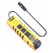 Car power inverter DC 12V to AC 110V with dual USB ports 4.2A high-speed charger and cigarette lighter adapter