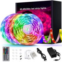Led Strip Lights Keepsmile RGB Color Changing Led Light Strips SMD 5050 LED Strips with Remote Led Lights for Bedroom Kitchen Home Decoration