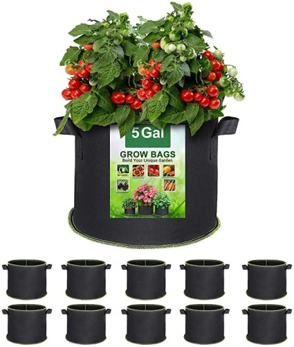5 Gallon Grow Bags Heavy Duty 300G Thickened Nonwoven Plant Fabric Pots with Handles