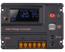 10A20A30A 12V 24V solar charge controller automatic switch LCD smart panel battery regulator charge controller overload protection temperature compensation