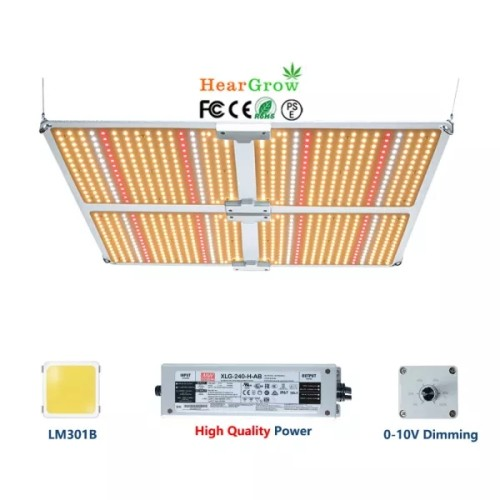400W Full-spectrum Samsung Lm301B and Meanwell Driver LED Light Panel Hydroponic Plant Greenhouse VEG Bloom Growth Light
