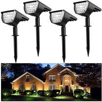 Solar Landscape Spot Lights Outdoor 32 LED IP65 Waterproof Wireless Lights for Garden Yard Driveway Walkway Pool Patio