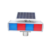 solar panel traffic flashing light on four-sideSolar flash lamp integrated split construction signal lamp traffic safety warning lamp red and blue barrier lamp