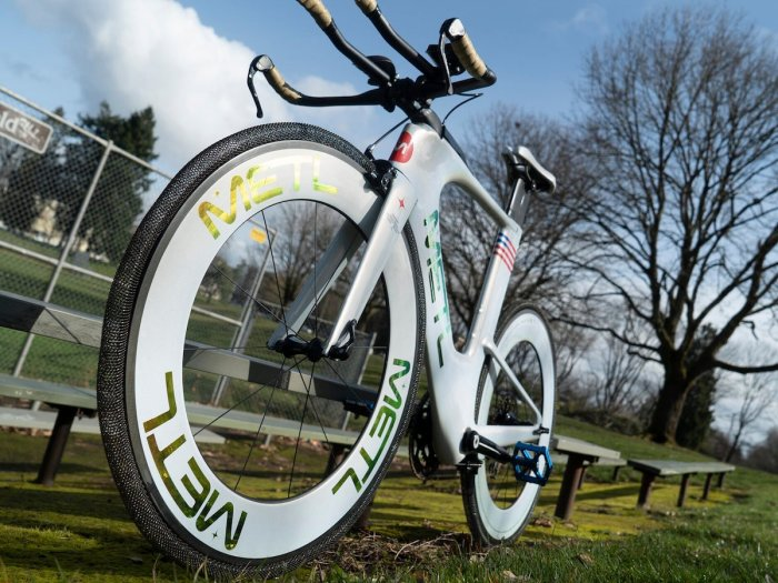 Space age alloy tire bicycle