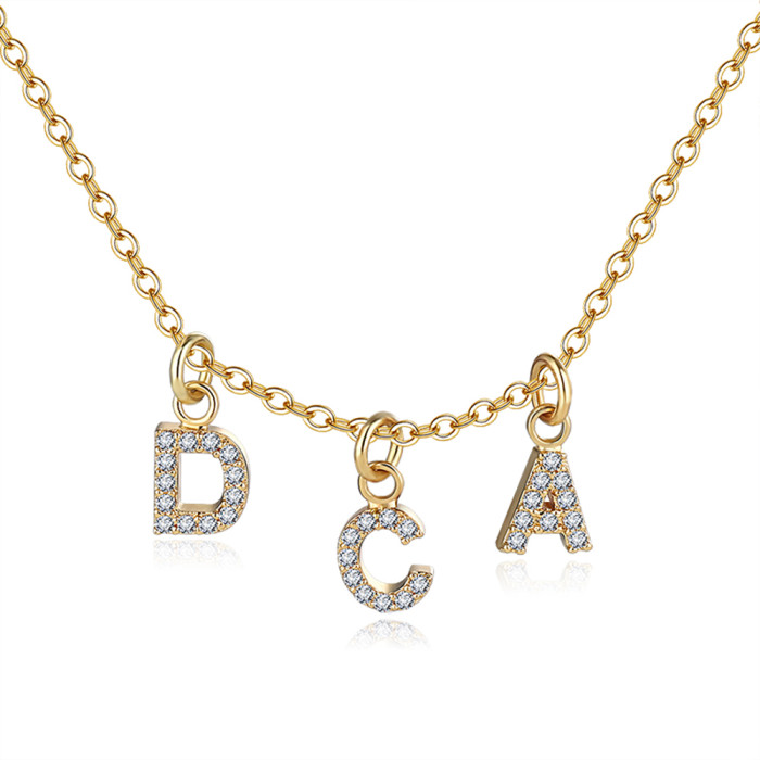Name Initial Necklace Christmas Gift Name Necklace Gold Dangle Name Necklace Letter Name Necklace Silver Name