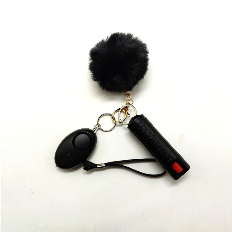 2021 New Self defense keychain for women, With Safe Sound Personal Alarm, Self-Defence Key Chain Anti-Wolf Defense Keychain