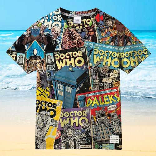 Time Lord Doctor Who Hawaiian Unisex Shirt