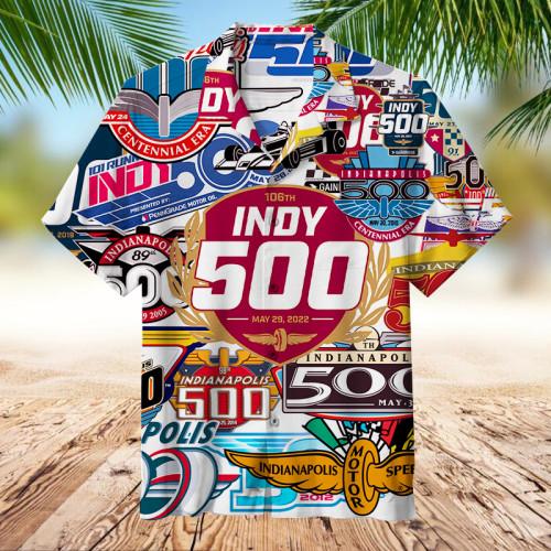 Indianapolis 500 Collage   Hawaiian shirt