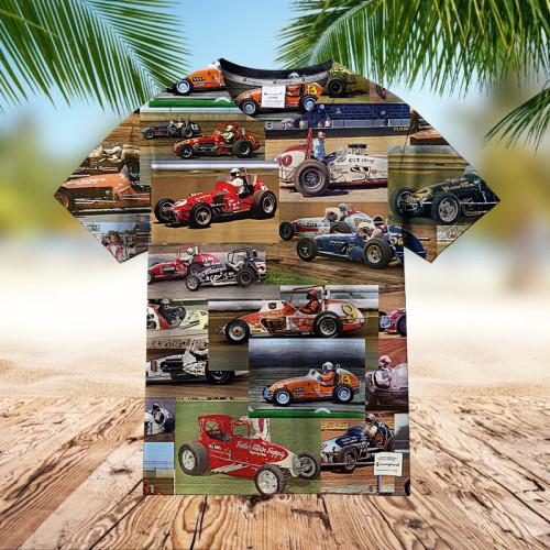 Sprint Car Racing   Collectible Hawaiian shirt