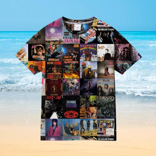 Classic Music Album Cover Poster Art    Collectible Hawaiian shirt