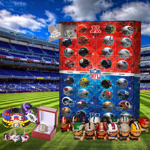 NFL Christmas 24 days Advent Calendar - 🎉give away 24PCS NFL gifts