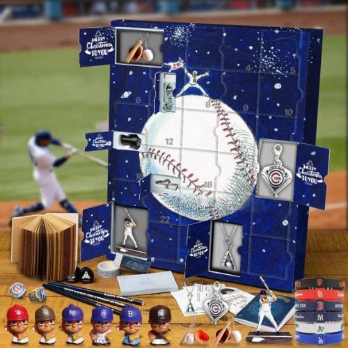 MLB Baseball Advent Calendar -- The One With 24 Little Doors