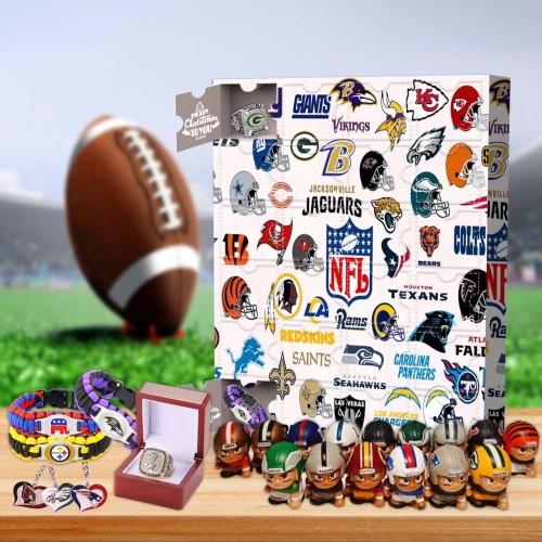 NFL Christmas Advent Calendar -- The one with 24 little doors