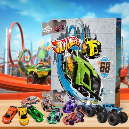 Hot Wheels Advent Calendar -- 🕸The One With 24 Little Doors