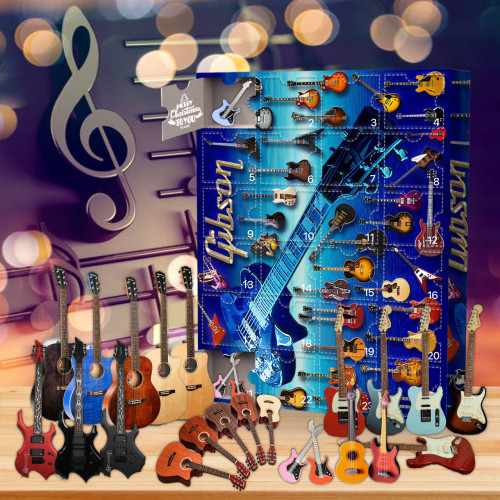 Guitar Advent Calendar -- 🕸The One With 24 Little Doors
