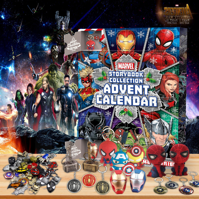 Marvel Cinematic Universe Advent Calendar -- 🕸The One With 24 Little Doors