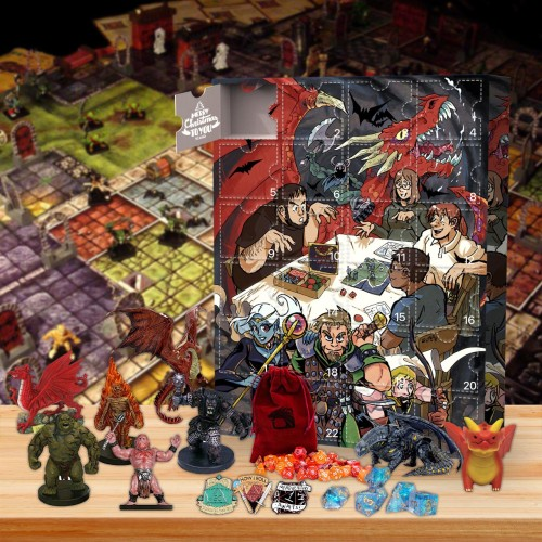 Dungeons & Dragons Advent Calendar🐉 -- 🎲The One With 24 Little Doors