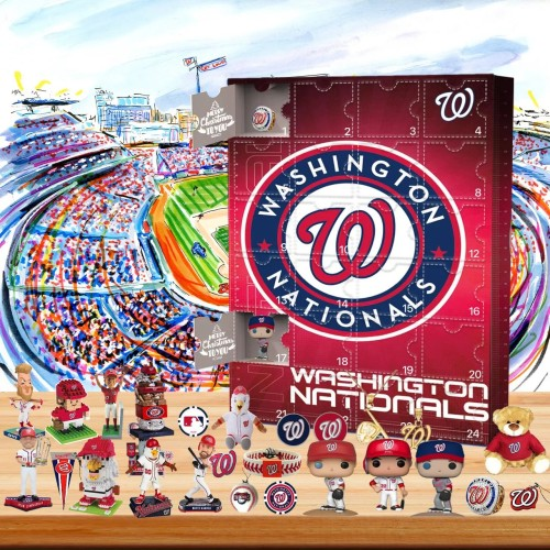 ⚾MLB Washington Nationals baseball team themed Advent calendar box, 🎁 contains 24 gifts, there are surprises every day