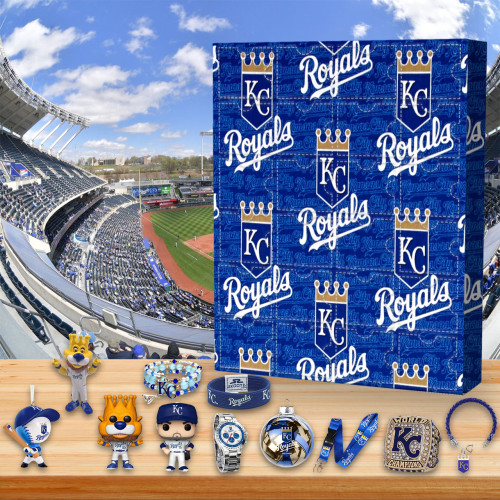 ⚾MLB Kansas City Royals-themed Advent calendar box, 🎁 contains 24 gifts, open a surprise every day, every day