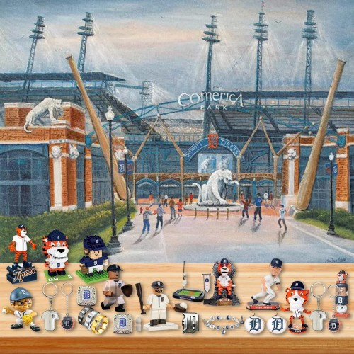 ⚾MLB Detroit Tiger Baseball Theme Advent Calendar Box, 🎁 contains 24 gifts, every day a surprise every day