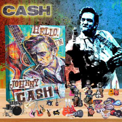 🎸Johnny Cash  Advent Calendar🎁 The best gift choice for fans
