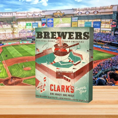 ⚾MLB  Advent Calendar - Milwaukee Brewers🎁 The best gift choice for fans