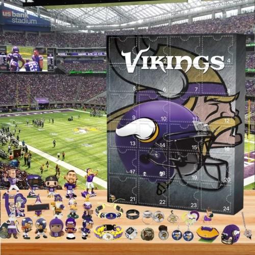 🏈NFL Minnesota Viking Advent Calendar🎁 The best gift choice for fans