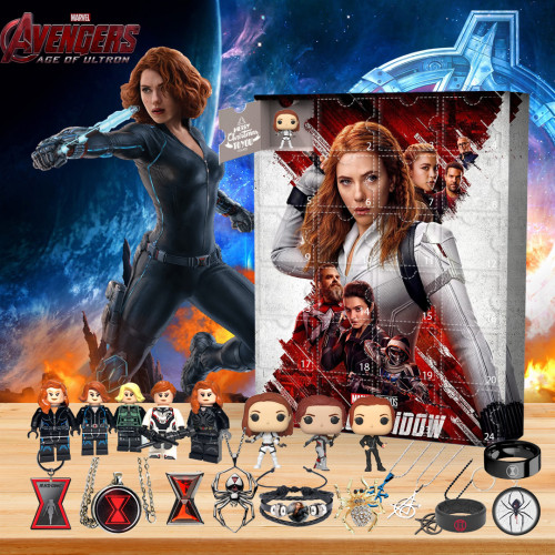🕷2022 Limited Edition Advent Calendar - Black Widow🎁 The best gift choice for fans