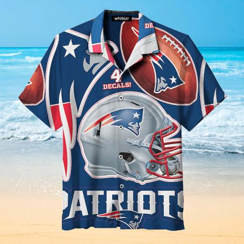 New England Patriots Rugby Hawaiian Shirt