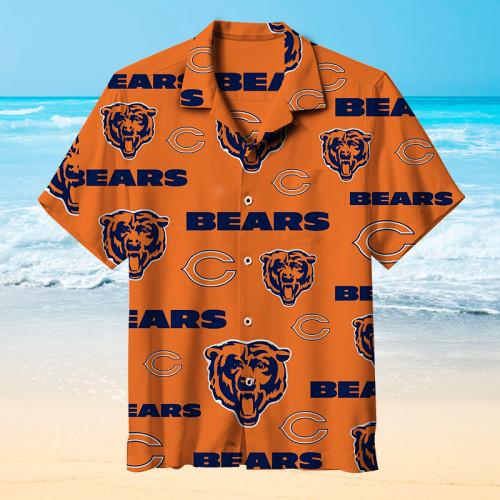 Chicago Bears Unisex Hawaiian Short Sleeve Shirt