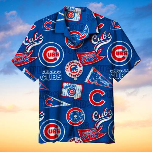 Chicago Cubs Hawaiian Short Sleeve Shirt
