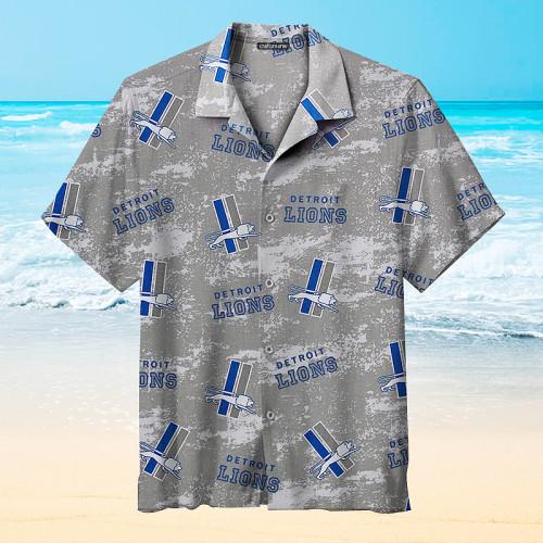 Detroit Lions Gray Unisex Hawaiian Shirts