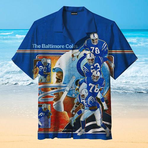 Indianapolis Colts Blue Hawaiian Shirt