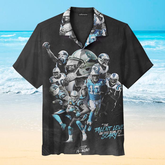 Carolina Panthers Stars Unisex Short Sleeve Hawaiian Shirt