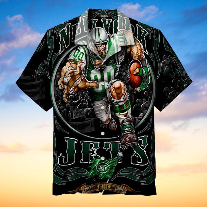 New York Jets Rampage Hawaiian shirt