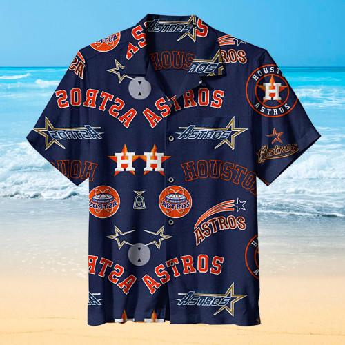 Houston Astros MLB Baseball Retro Print Unisex Hawaiian Shirt