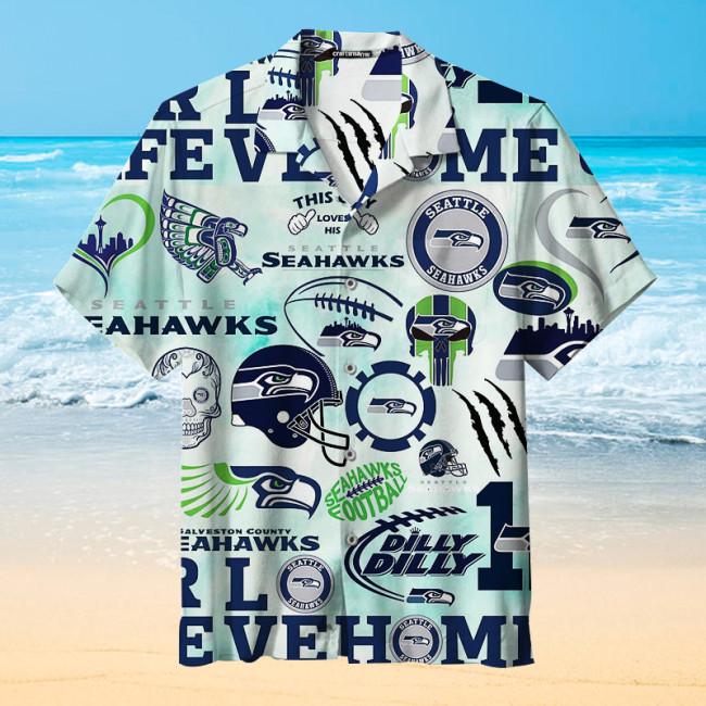 Love My Seattle Seahawks Unisex Hawaiian Shirt