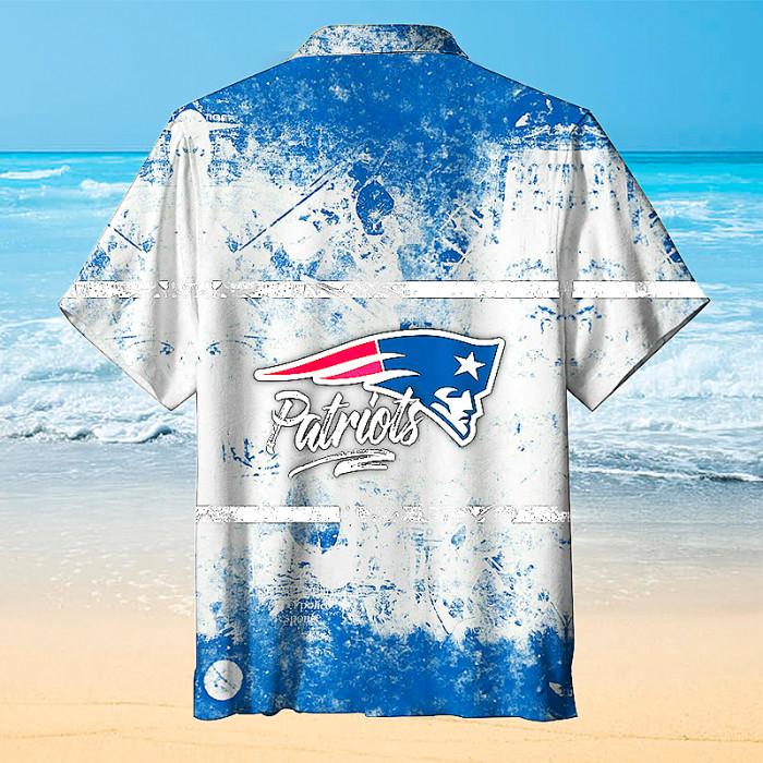 New England Patriots Beach Hawaiian Shirt