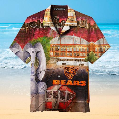 The Vintage Chicago Bears Print Unisex Hawaiian Shirt