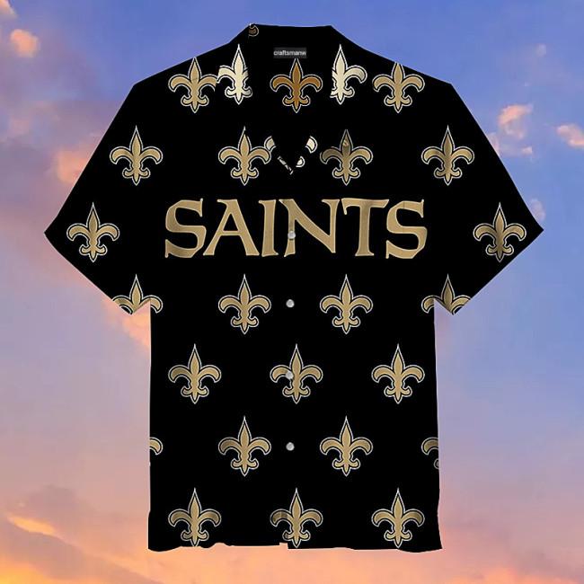 New Orleans Saints Hawaiian Short Sleeve Shirt