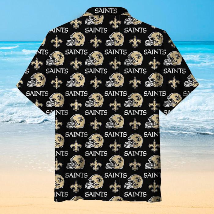 ⚜️New Orleans Saints⚜️ Helmet Unisex Hawaiian Short Sleeve Shirt