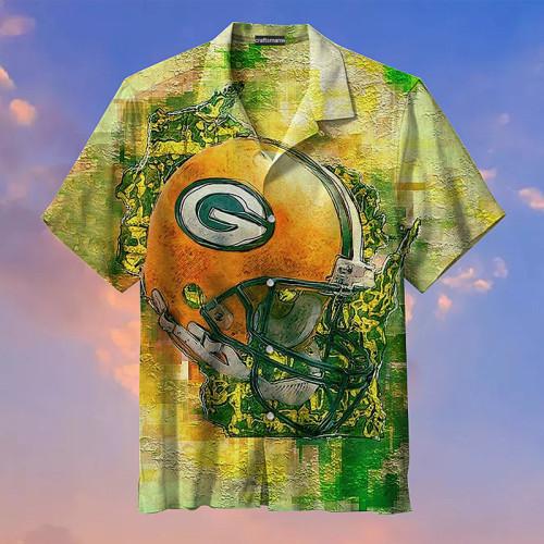 Green Bay Packers Print Graffiti Hawaiian Shirts