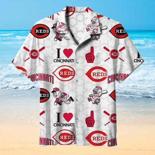 MLB Cincinnati Reds Hawaiian Short Sleeve