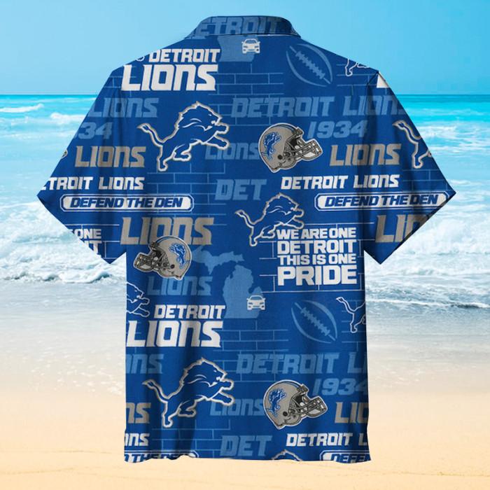 Detroit Lions Hometown Rugby Team Unisex Hawaiian Shirt