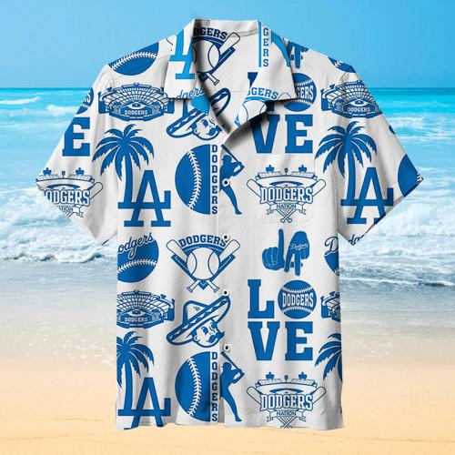 Los Angeles Dodgers Hawaiian Short Sleeve Shirt